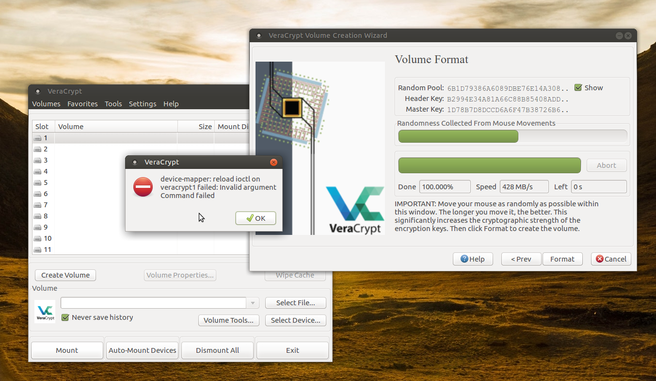 Featured image of post Getting VeraCrypt running on a custom build Kernel